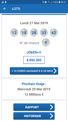 Résultat Loto France screenshot 2