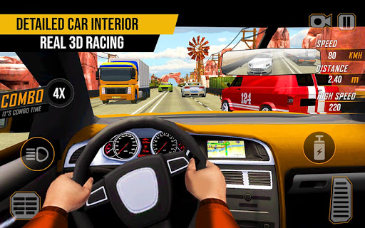 Racing in Highway Car 2018 screenshot 11