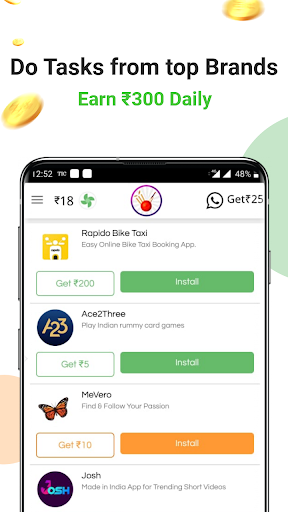 Earn Wallet cash, Free mobile Recharge & coins screenshot 1