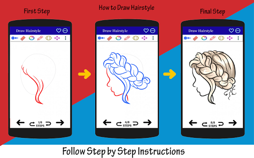 How to Draw Hairstyle 2021 Step by Step screenshot 2