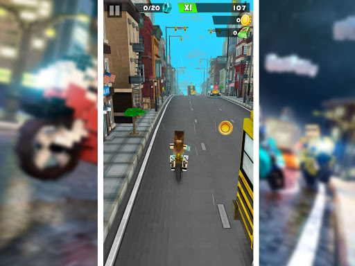 Blocky Superbikes Race Game - Motorcycle Challenge 屏幕截图 10