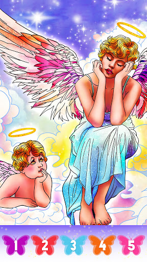 Angel color by number screenshot 4