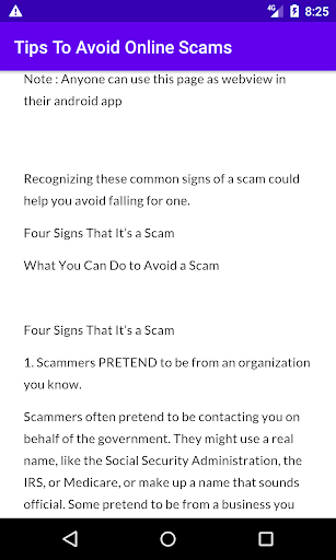 Tips To Avoid Online Scams screenshot 2