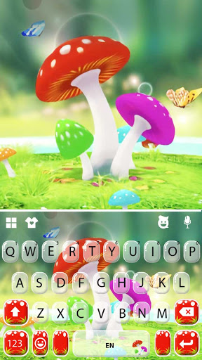 Cute Mushrooms Keyboard Background screenshot 5