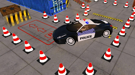 Spooky Police Car Parking Games screenshot 2