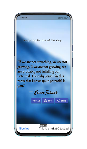 Inspiring Quote screenshot 2