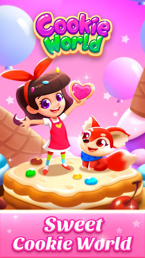 Cookie World -- Clash of Cookie & Colorful Puzzle screenshot 3