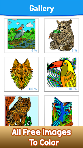 Animals Paint by Number screenshot 1