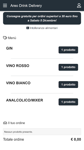 Areo Drink Delivery screenshot 2