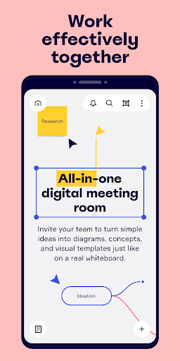 Miro: Online whiteboard canvas for remote teams screenshot 1