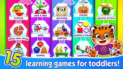 Funny Food! Educational games for kids 3 years old screenshot 1