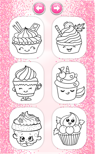 Cupcakes Coloring Book Pattern screenshot 2