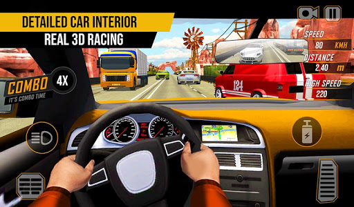 Racing in Highway Car 2018 screenshot 4