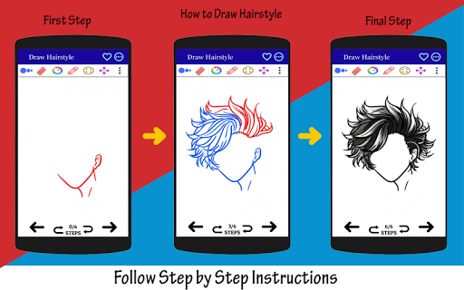 How to Draw Hairstyle 2021 Step by Step screenshot 6