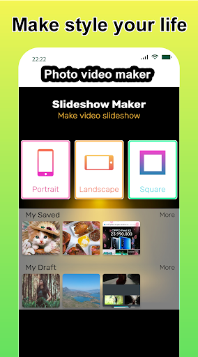 Photo video maker with music, effects for pictures screenshot 1