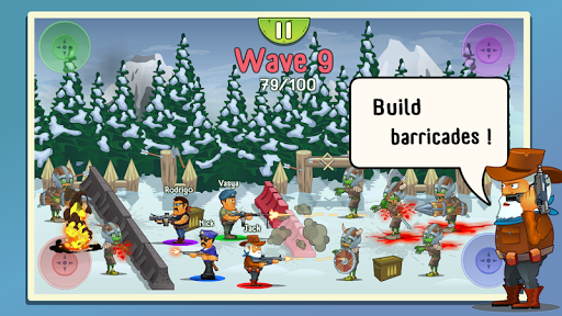 Four guys & Zombies (four-player game) screenshot 2
