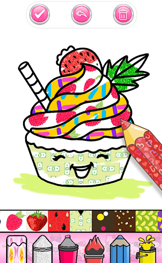 Cupcakes Coloring Book Pattern screenshot 5