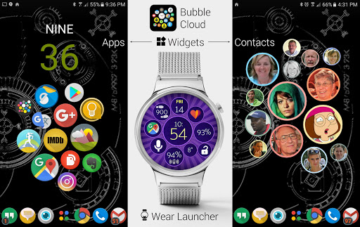 Bubble Cloud Tile Launcher / Watchface (Wear OS) screenshot 3