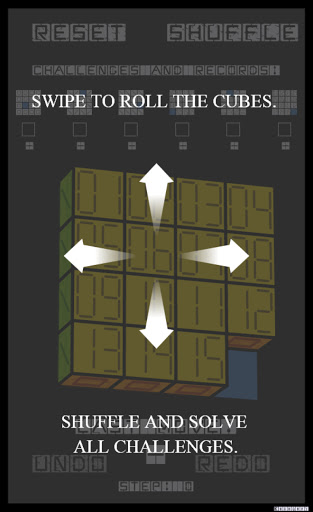 Slide Puzzle with 3D Cubes (Roll Over Puzzle) screenshot 1