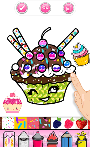 Cupcakes Coloring Book Pattern screenshot 4
