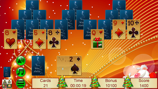Xmas TriPeaks, card solitaire, tournament edition screenshot 2