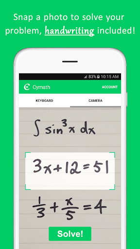 Cymath screenshot 1