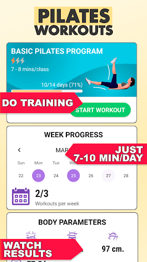 Pilates workout routine-Fitness exercises at home screenshot 2