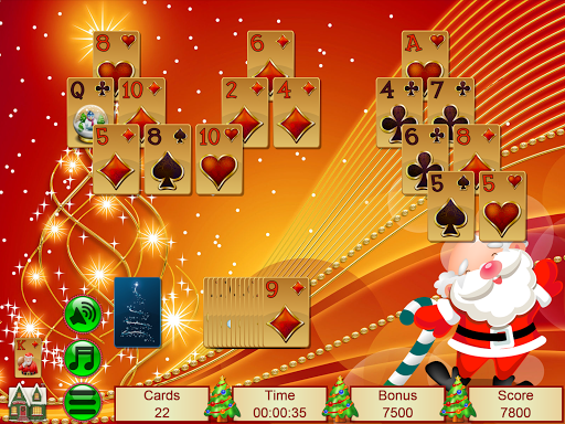 Xmas TriPeaks, card solitaire, tournament edition screenshot 24