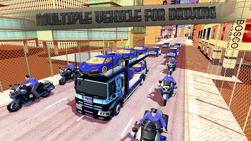 Police Car Transport Truck:New Car Games 2020 screenshot 4