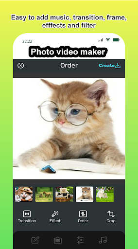 Photo video maker with music, effects for pictures screenshot 2