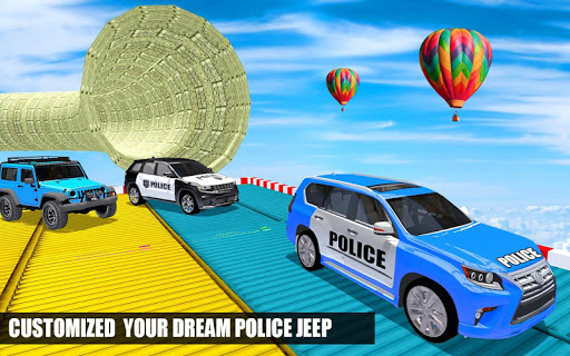 Police Spooky Jeep Stunt Game screenshot 3