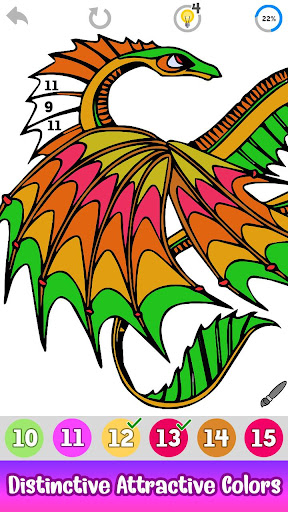 Dragons Color by Number screenshot 5