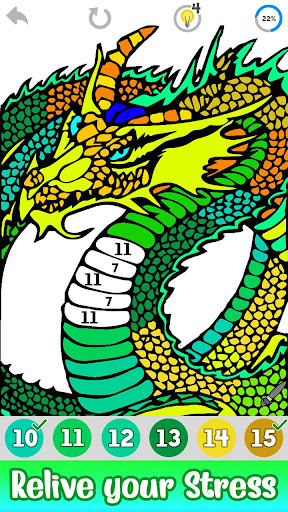 Dragons Color by Number screenshot 2