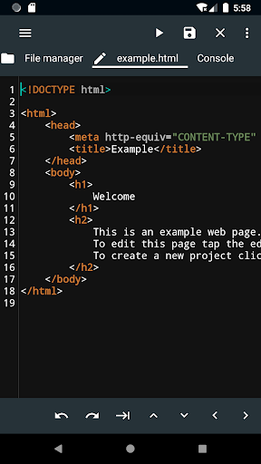 WebCode - ide for html, css and javascript screenshot 1