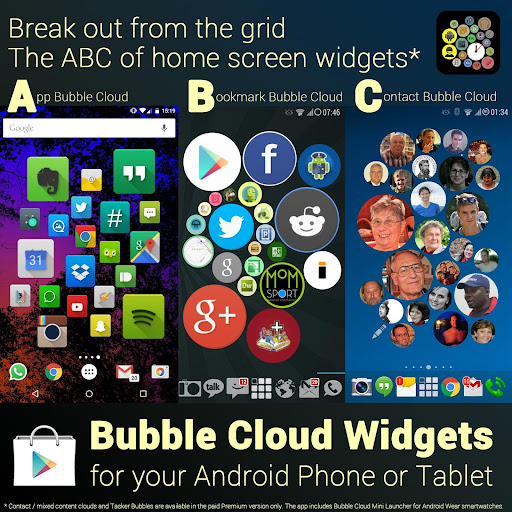Bubble Cloud Widgets + Folders for phones/tablets screenshot 17