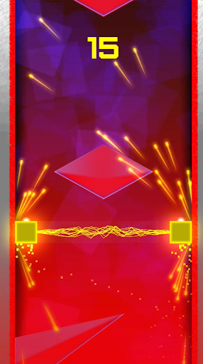 Geometry double square red land screenshot 2