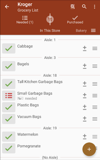 Grocery Shopping List - rShopping screenshot 1