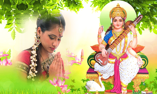 God Saraswati Maa Photo Frames screenshot 1