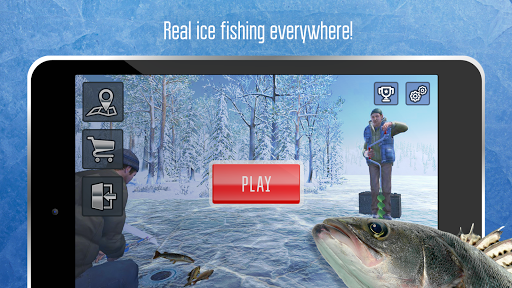 Ice fishing games for free. Fisherman simulator. screenshot 1