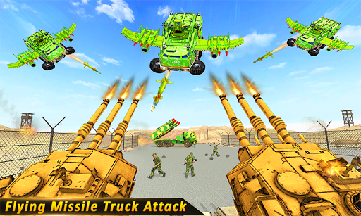 Flying missile Truck Attack screenshot 2