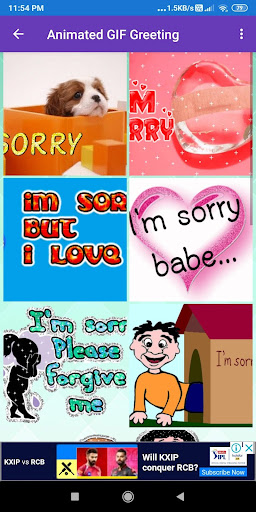 I Am Sorry: Greetings, Photo Frames, GIF Quotes screenshot 1