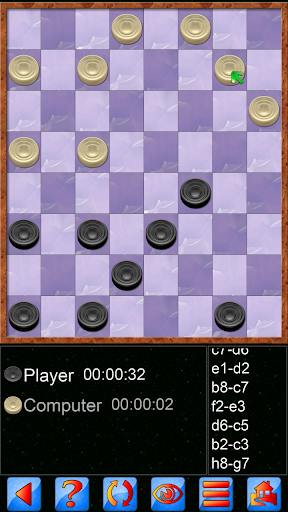 Checkers V+, solo and multiplayer checkers game screenshot 1