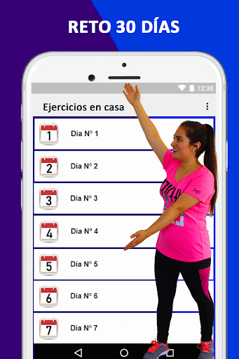 Exercises at home to lose weight and tone woman screenshot 16