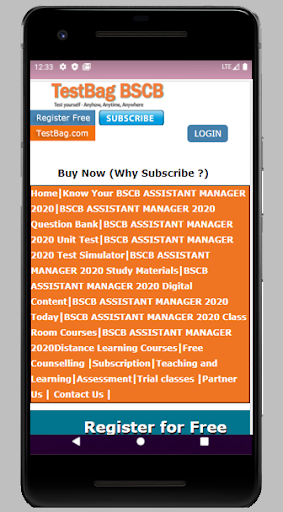 BSCB Assistant Manager Online Test in Hindi screenshot 1