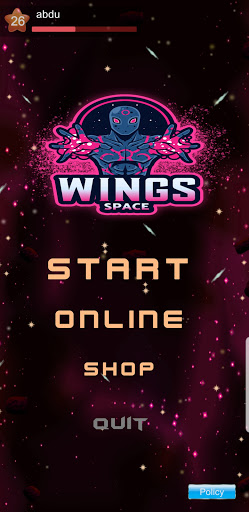 Wings Space Shooter screenshot 1