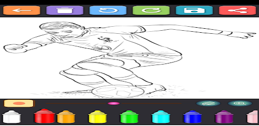 Coloring Soccer Players screenshot 3