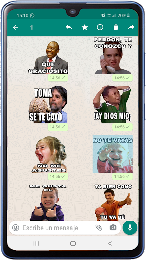 Memes with phrases Spanish Stickers WAStickerApps screenshot 4