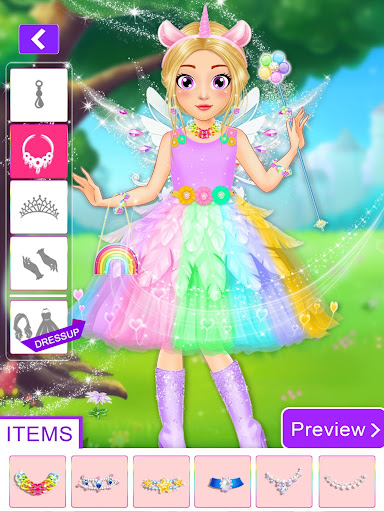 Unicorn Fashion Dress Up Makeover screenshot 5