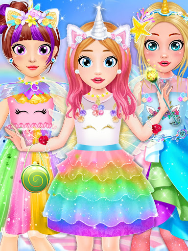 Unicorn Fashion Dress Up Makeover screenshot 1