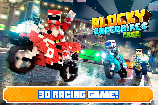 Blocky Superbikes Race Game - Motorcycle Challenge 屏幕截图 4